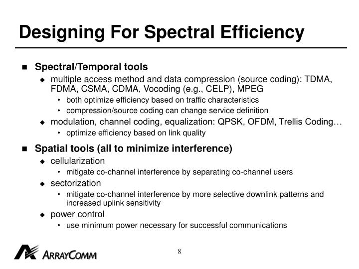 Designing For Spectral Efficiency