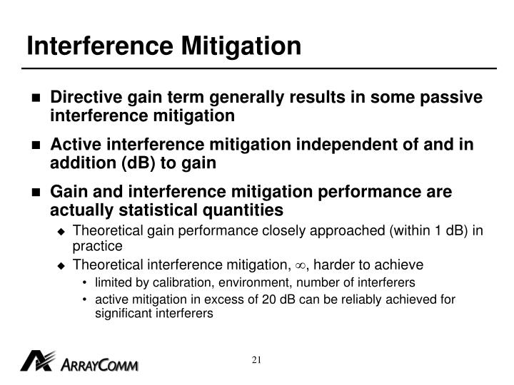 Interference Mitigation