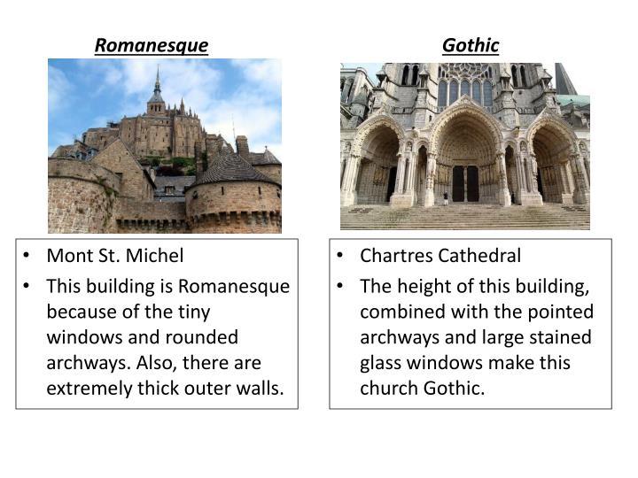 gothic v romanesque architecture