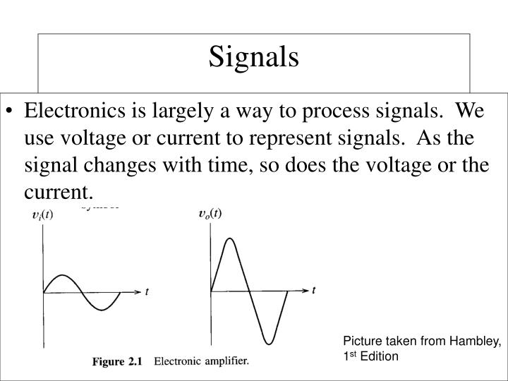 Electronics is largely a way to process signals.  We use voltage or current to represent signals.  As the signal changes with time, so does the voltage or the current.