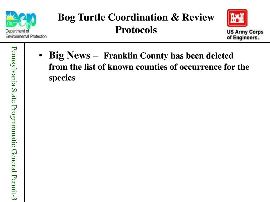 Bog Turtle Coordination & Review Protocols