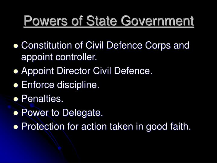 Powers of State Government