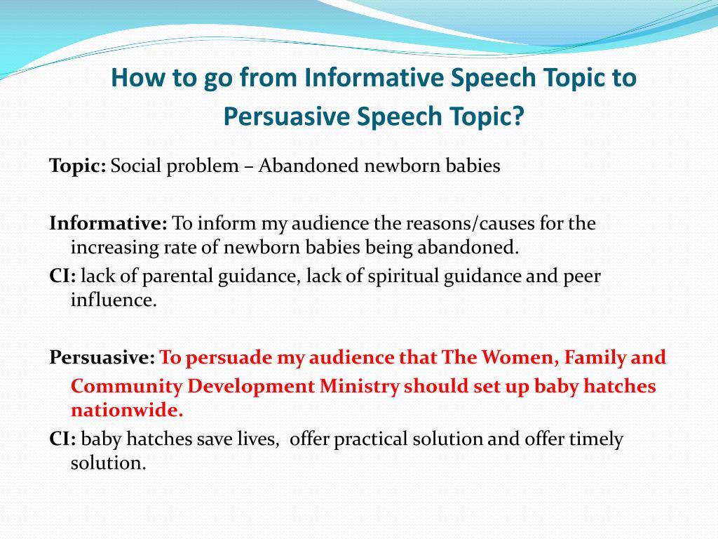 Persuasive speech on sex education