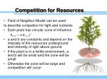 competition for resources