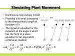 simulating plant movement15
