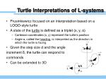 turtle interpretations of l systems