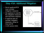 step 5a additional mitigation