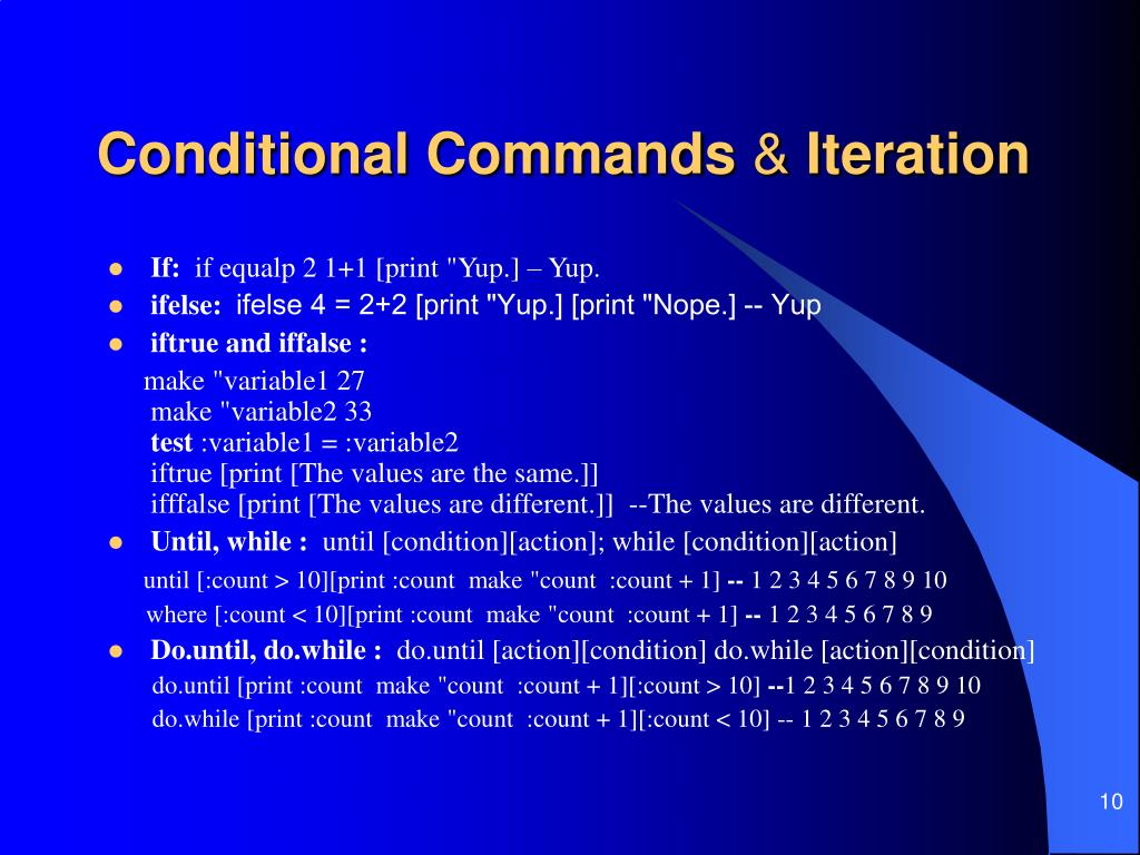 Conditional Commands