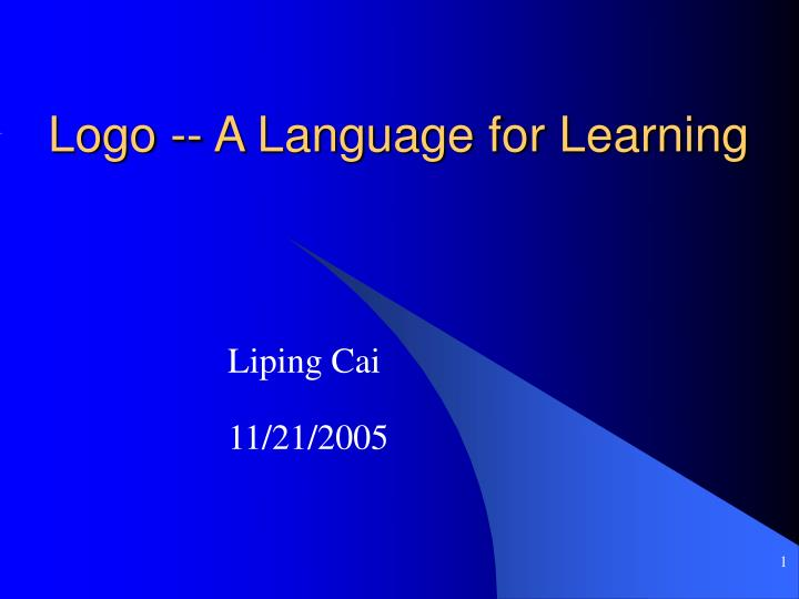 Logo a language for learning