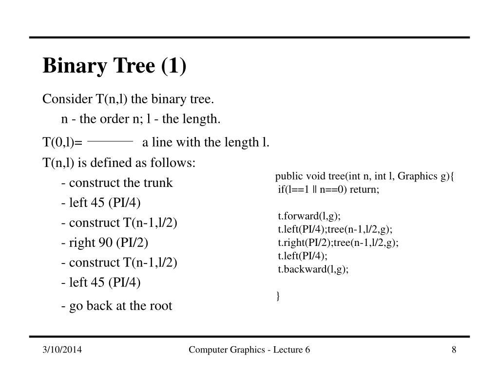 Binary Tree (1)