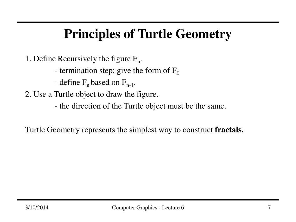 Principles of Turtle Geometry