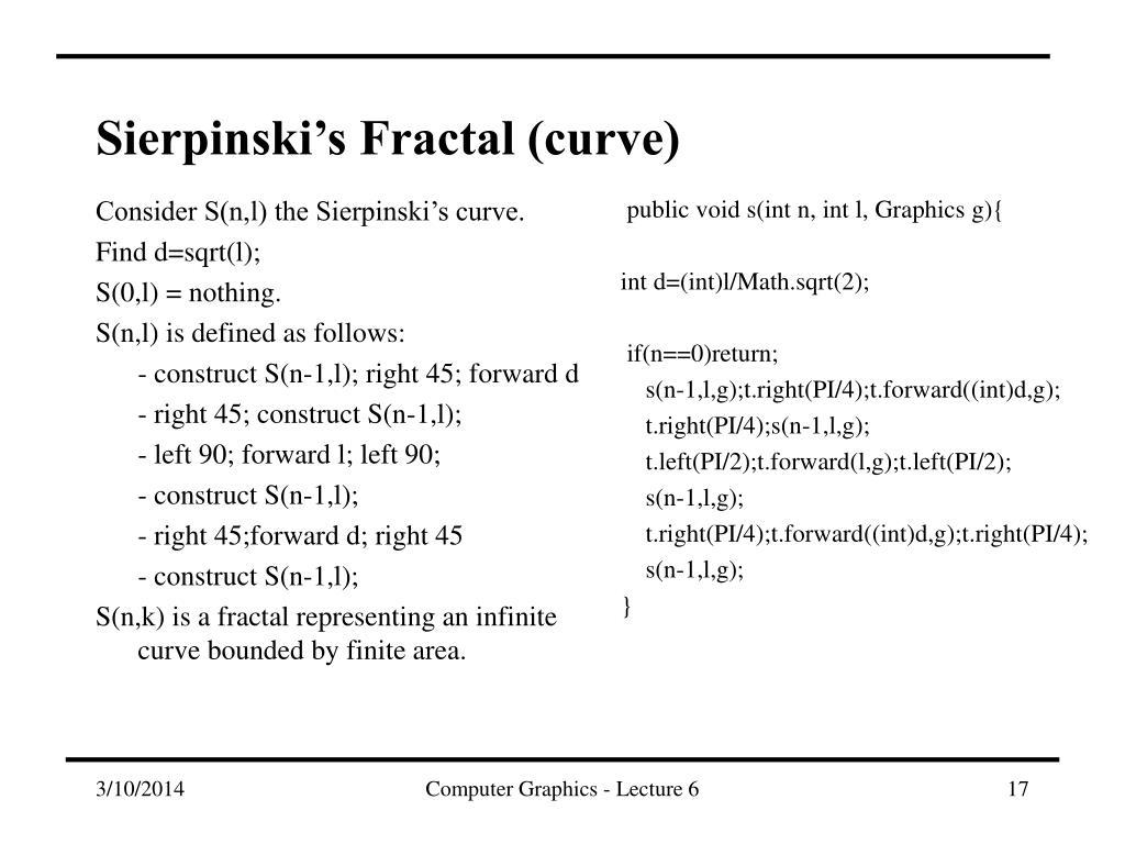 Sierpinski's Fractal (curve)
