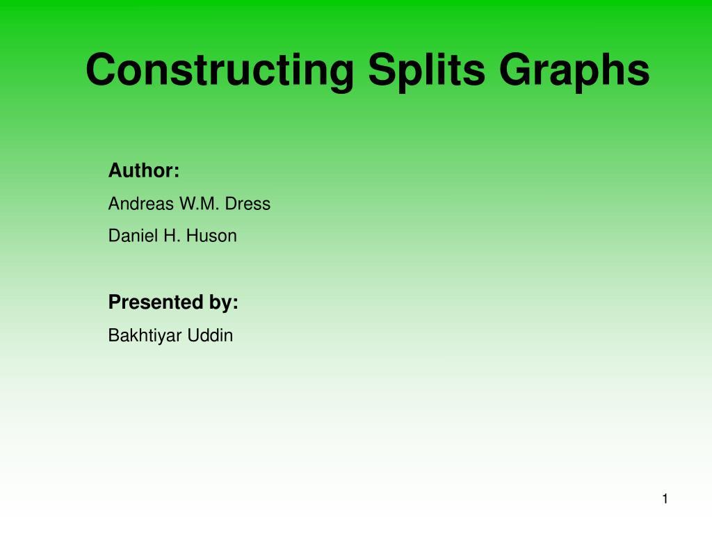 constructing splits graphs l.