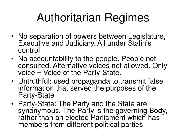 Authoritarian Regimes