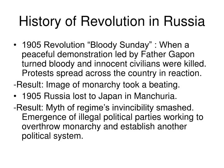 History of Revolution in Russia