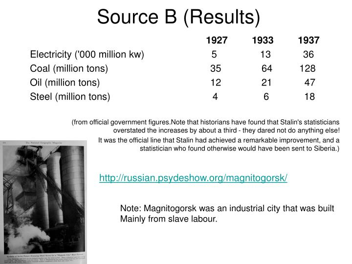 Source B (Results)