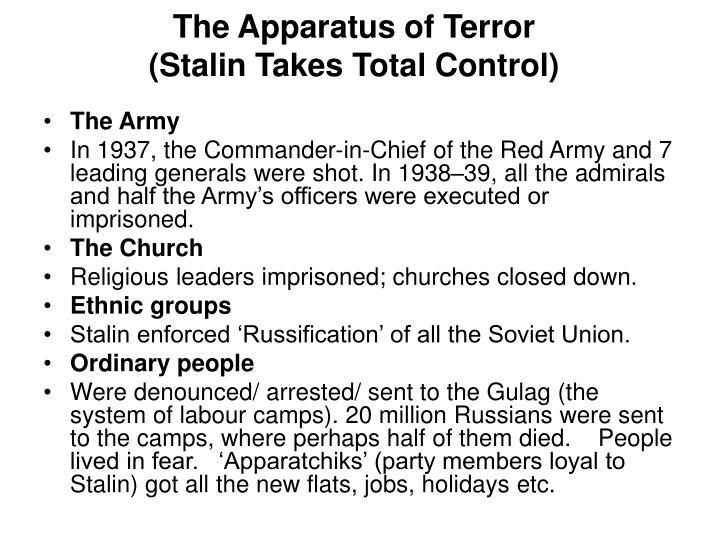 The Apparatus of Terror