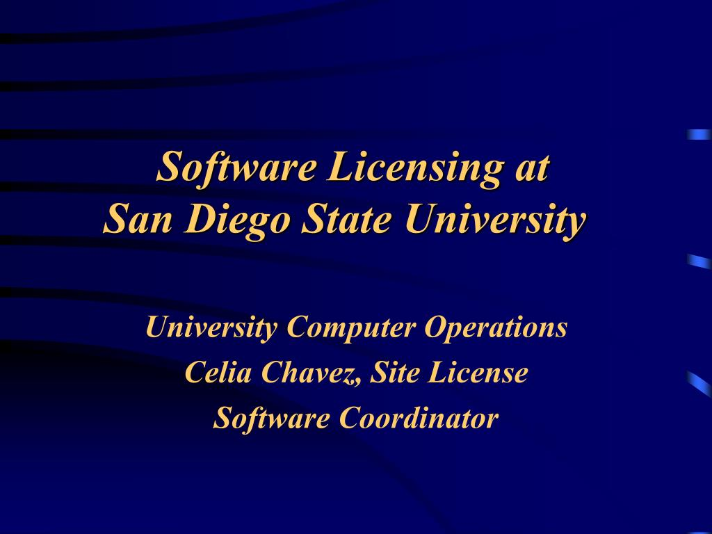 software licensing at san diego state university l.