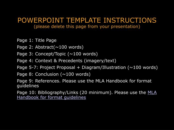 Powerpoint template instructions please delete this page from your presentation