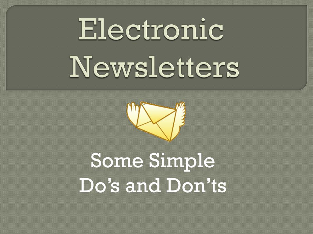 electronic newsletters