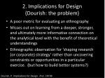 2 implications for design dourish the problem