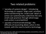 two related problems