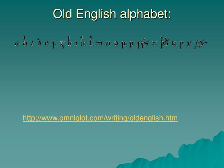 Old English alphabet: