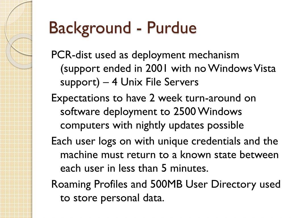 Background - Purdue