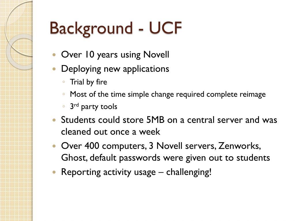 Background - UCF