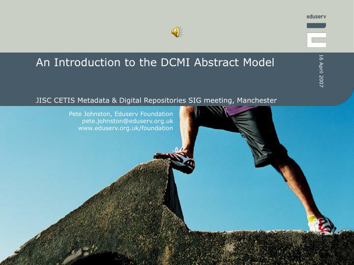 an introduction to the dcmi abstract model n.