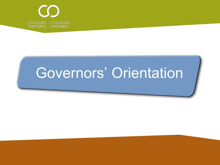 governors orientation n.