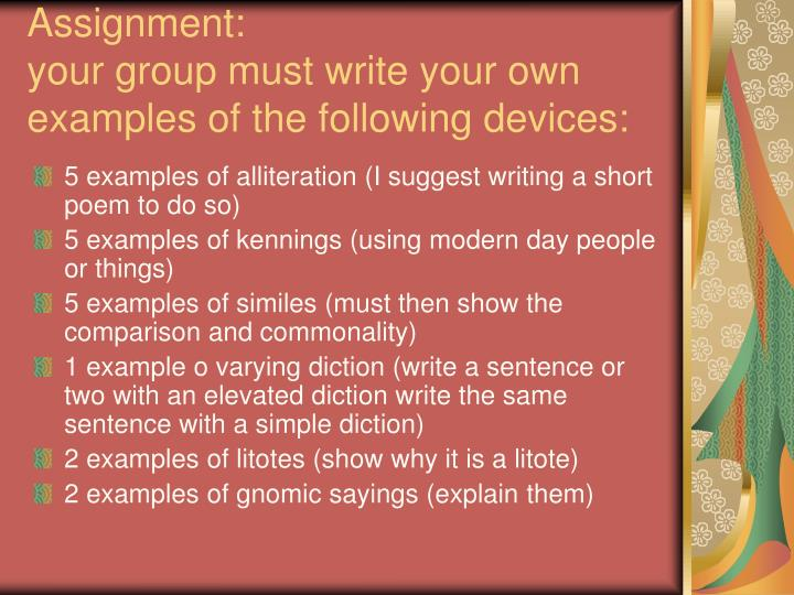 Ppt Poetic Devices In Beowulf Powerpoint Presentation Id976327