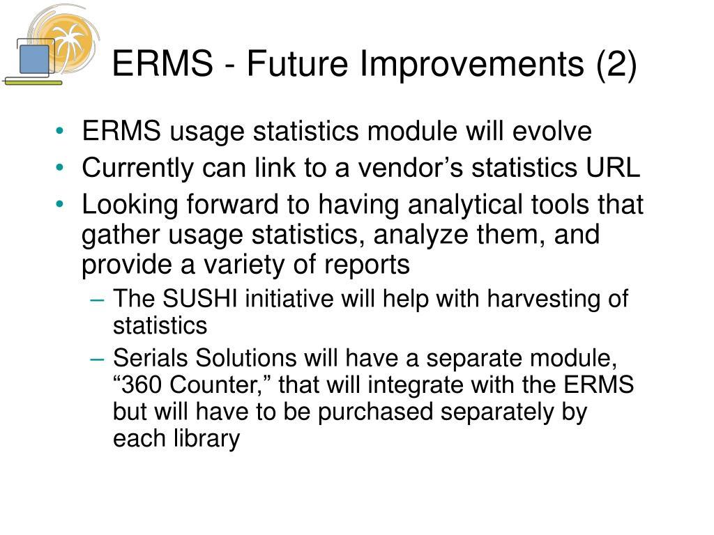 ERMS - Future Improvements (2)