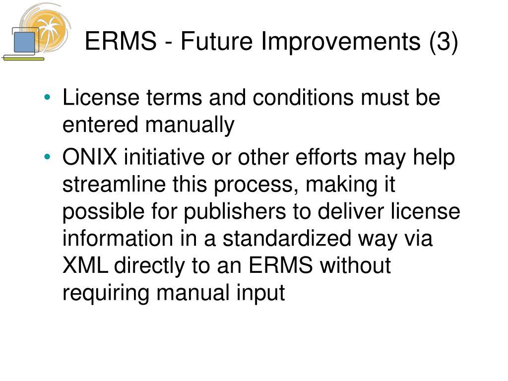 ERMS - Future Improvements (3)