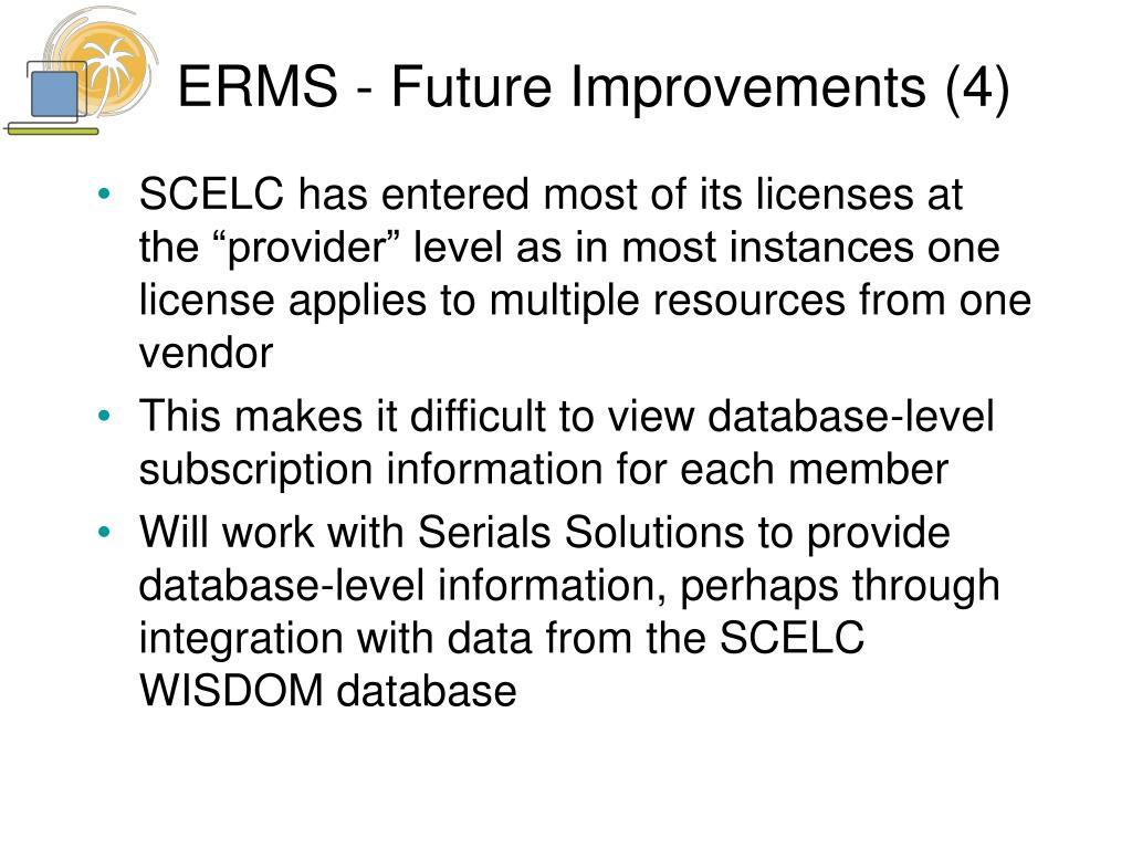 ERMS - Future Improvements (4)