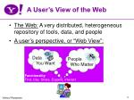a user s view of the web