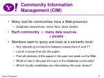 community information management cim