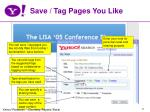 save tag pages you like