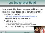 let supportnet help