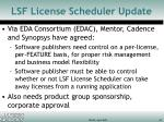 lsf license scheduler update