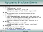 upcoming platform events