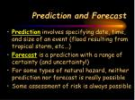 prediction and forecast