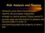risk analysis and planning