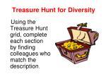 treasure hunt for diversity