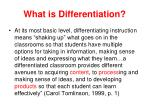 what is differentiation1
