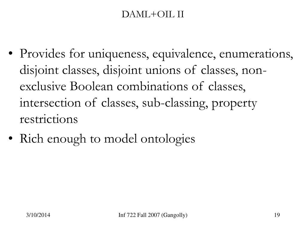 DAML+OIL II