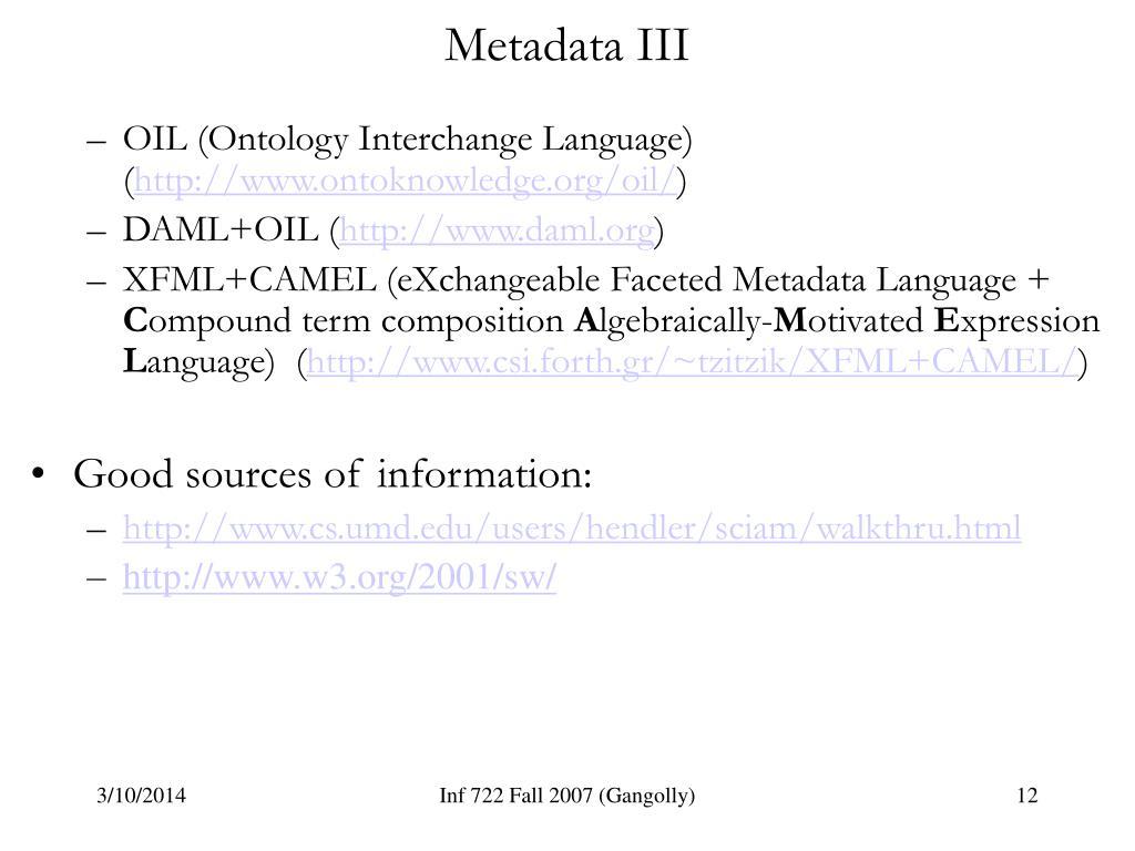 Metadata III