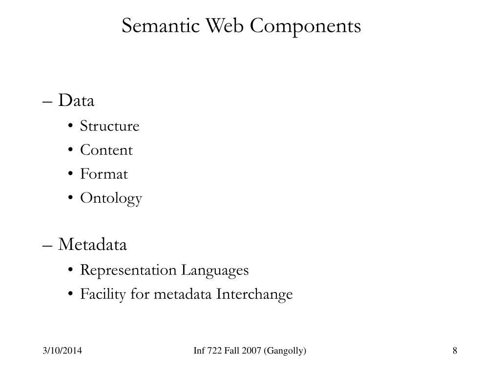 Semantic Web Components