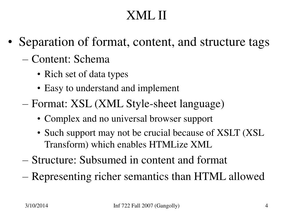 XML II