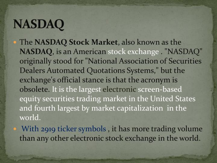 Ppt The Nyse And Nasdaq Powerpoint Presentation Id976445
